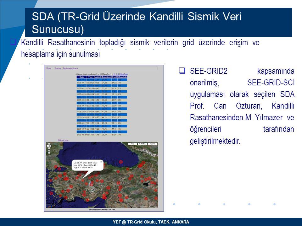 SDA (TR-Grid Üzerinde Kandilli Sismik Veri Sunucusu)