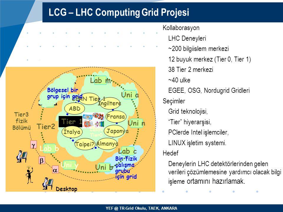 LCG – LHC Computing Grid Projesi