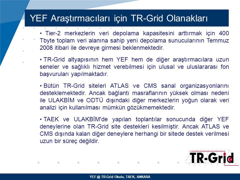 YEF Araştırmacıları için TR-Grid Olanakları