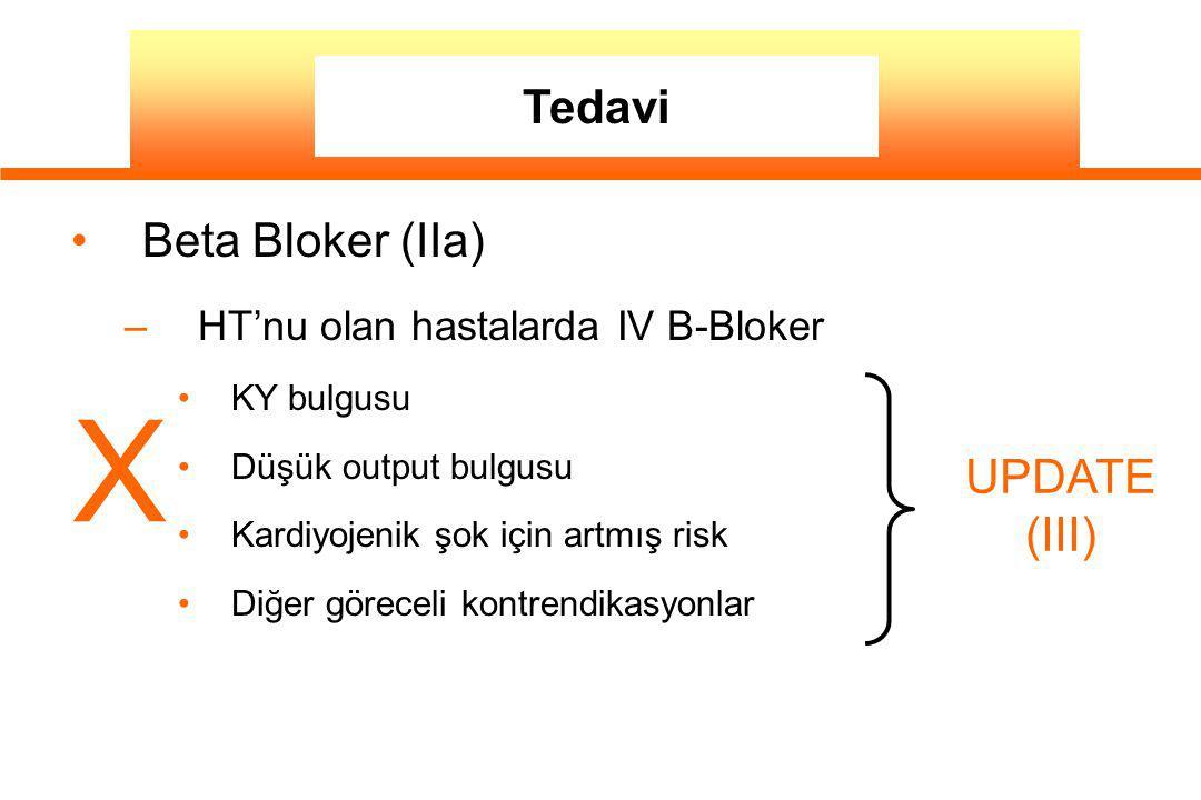 X Tedavi Beta Bloker (IIa) UPDATE (III)