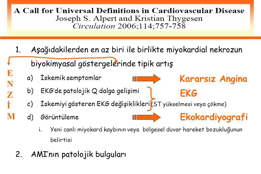 E N Kararsız Angina Z İ EKG M Ekokardiyografi