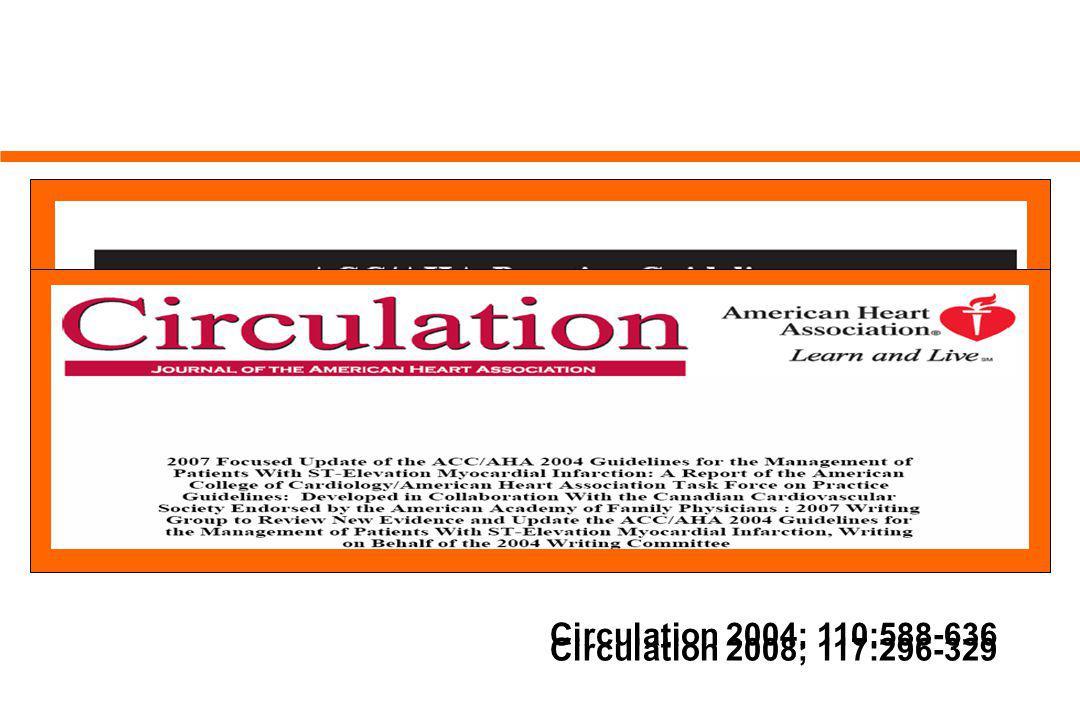Circulation 2004; 110:588-636 Circulation 2008; 117:296-329