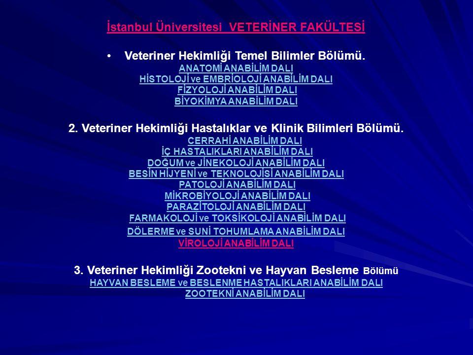 İstanbul Üniversitesi VETERİNER FAKÜLTESİ
