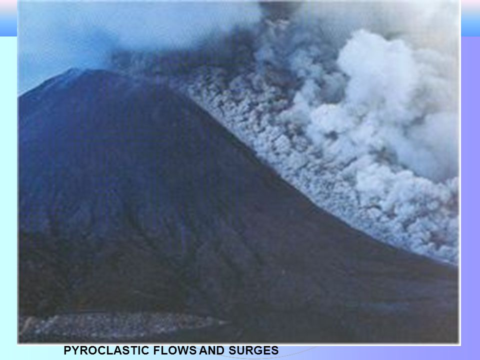PYROCLASTIC FLOWS AND SURGES