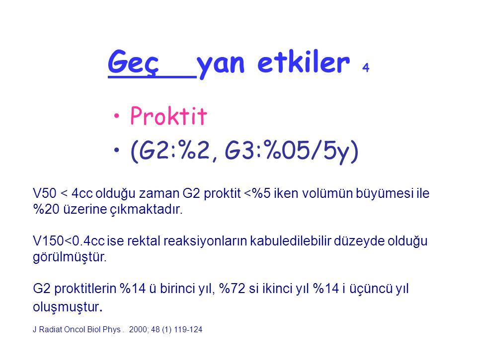 Geç yan etkiler 4 Proktit (G2:%2, G3:%05/5y)