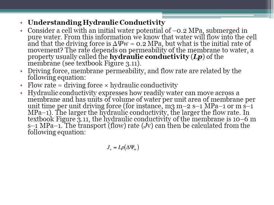 Understanding Hydraulic Conductivity