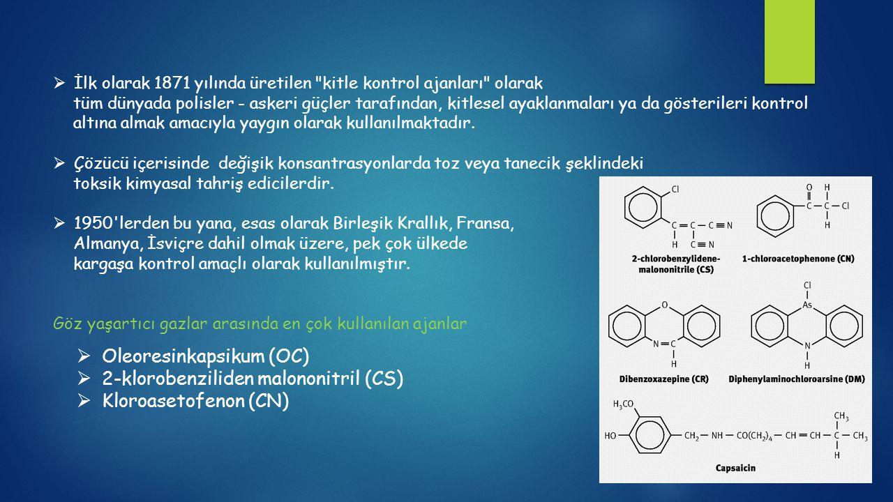 Oleoresinkapsikum (OC) 2-klorobenziliden malononitril (CS)