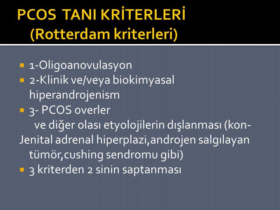 PCOS TANI KRİTERLERİ (Rotterdam kriterleri)