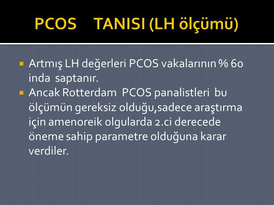 PCOS TANISI (LH ölçümü)