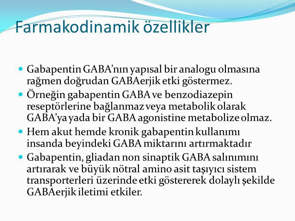 Farmakodinamik özellikler