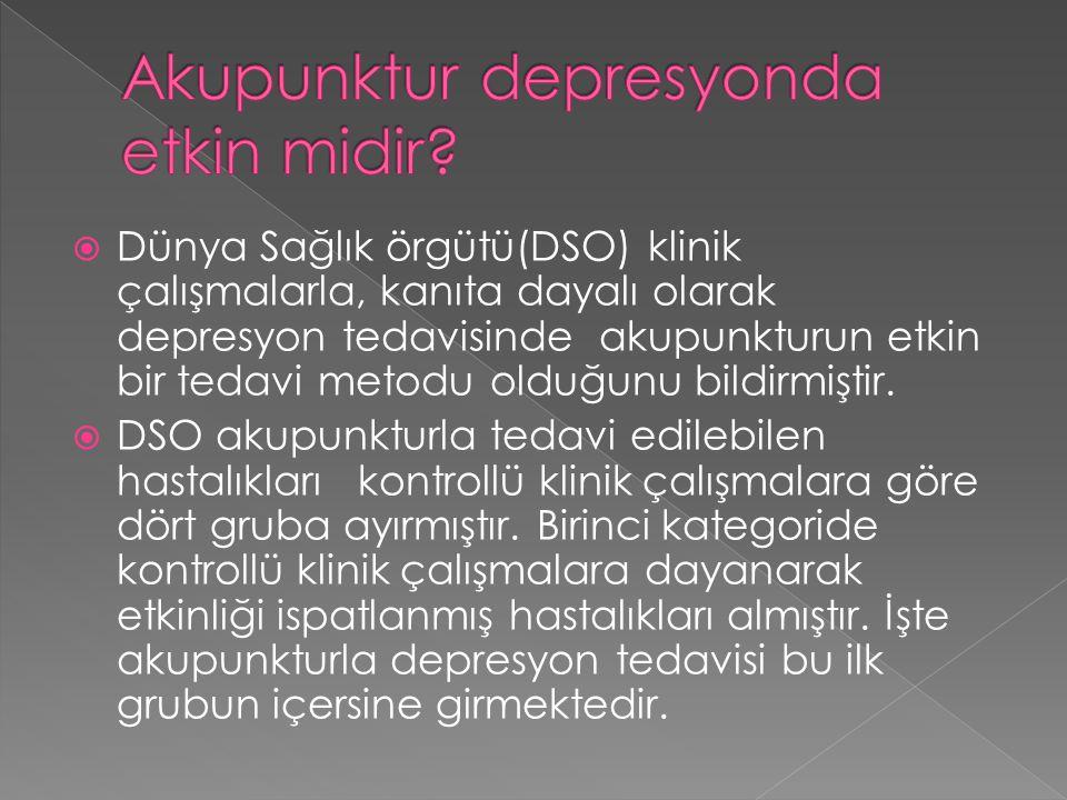 Akupunktur depresyonda etkin midir