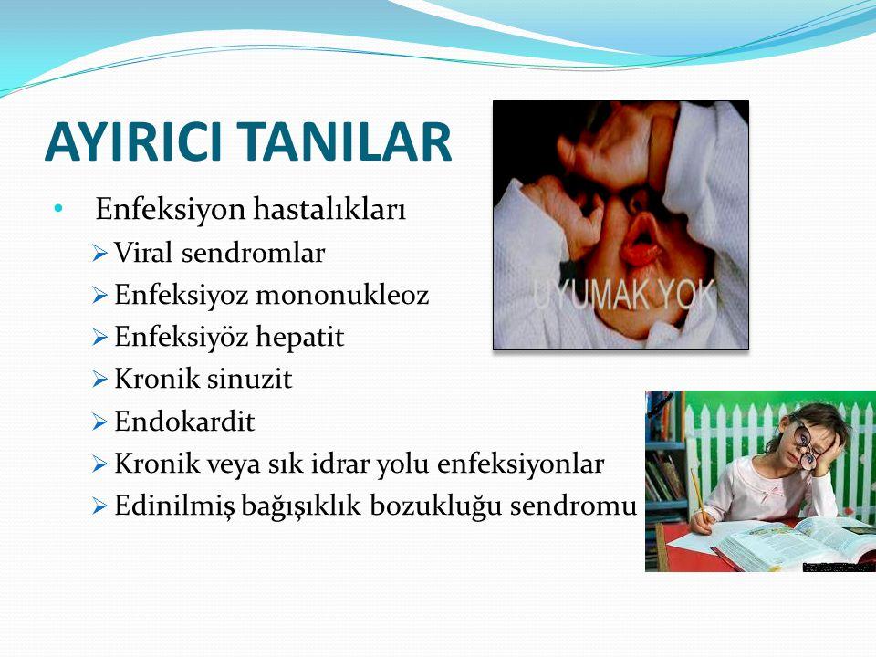 AYIRICI TANILAR Enfeksiyon hastalıkları Viral sendromlar