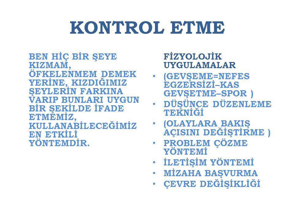 KONTROL ETME