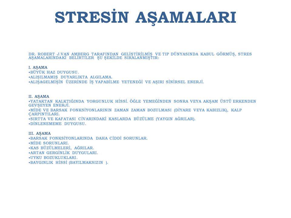 STRESİN AŞAMALARI