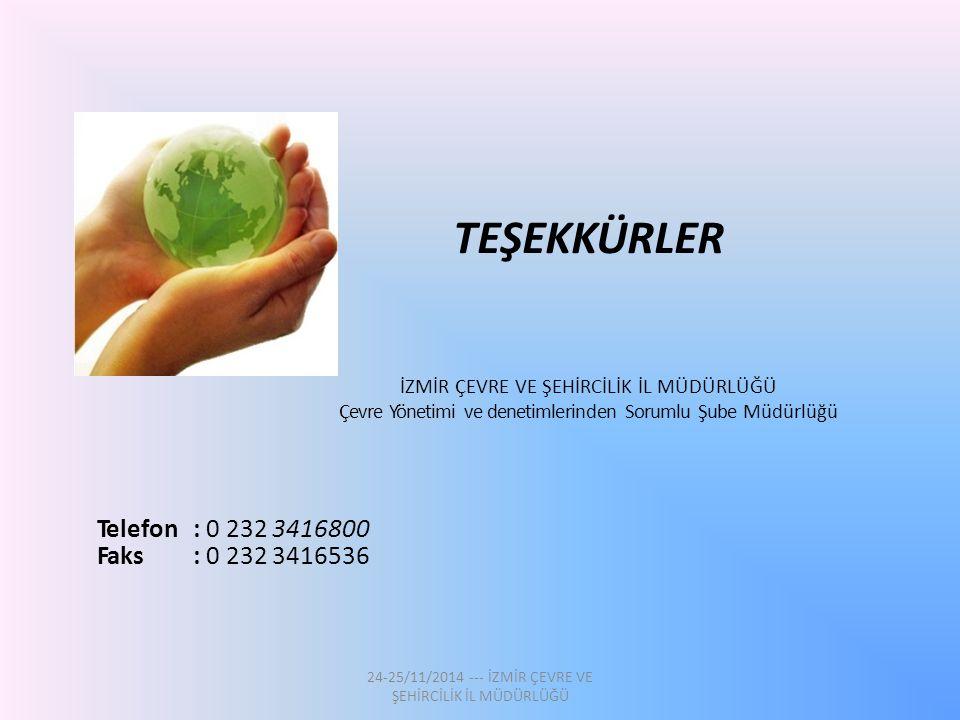 TEŞEKKÜRLER Telefon : 0 232 3416800 Faks : 0 232 3416536