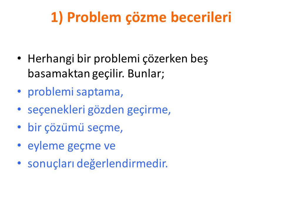 1) Problem çözme becerileri