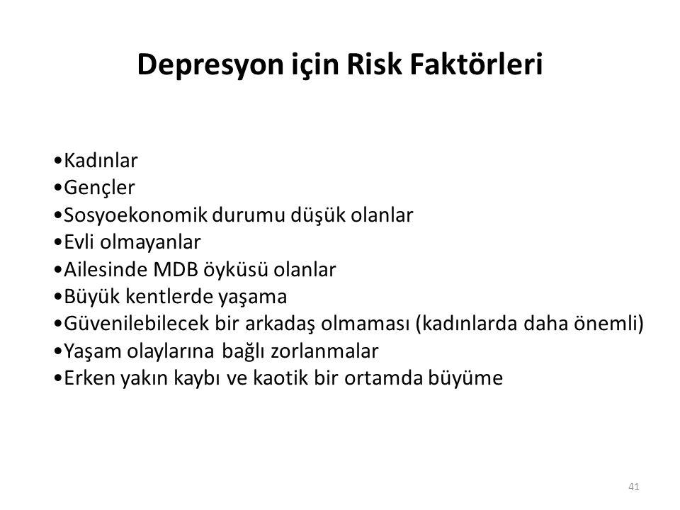 Depresyon için Risk Faktörleri