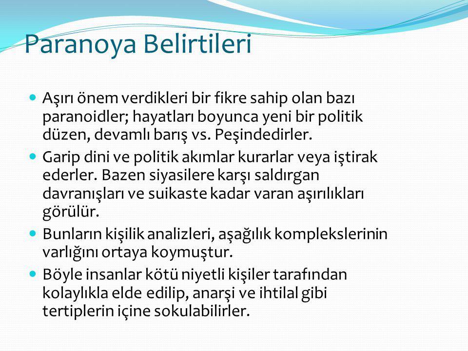 Paranoya Belirtileri