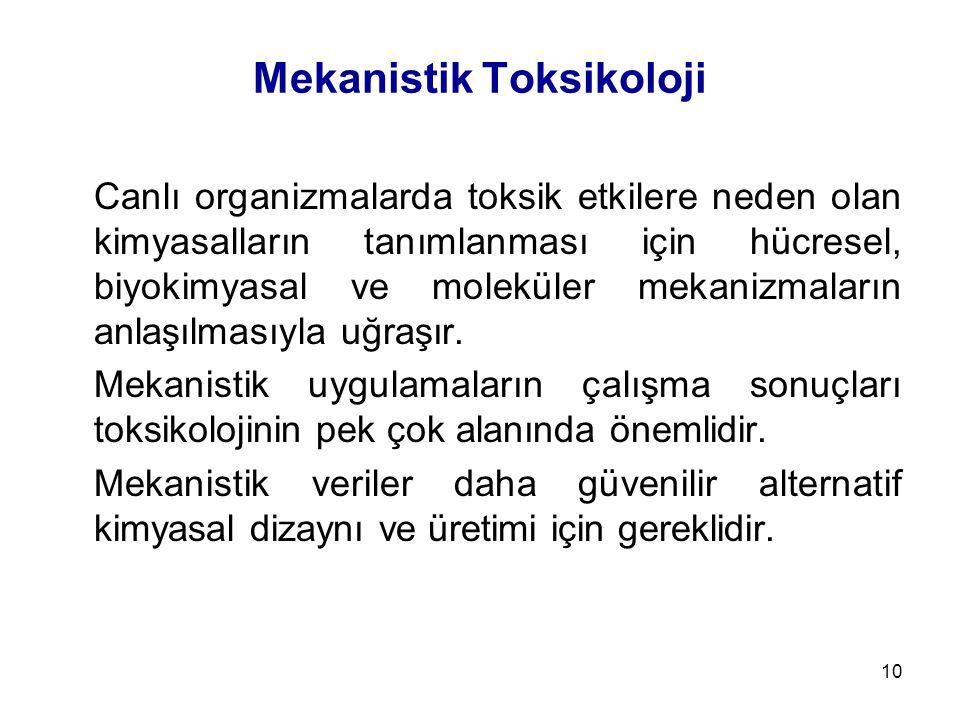 Mekanistik Toksikoloji