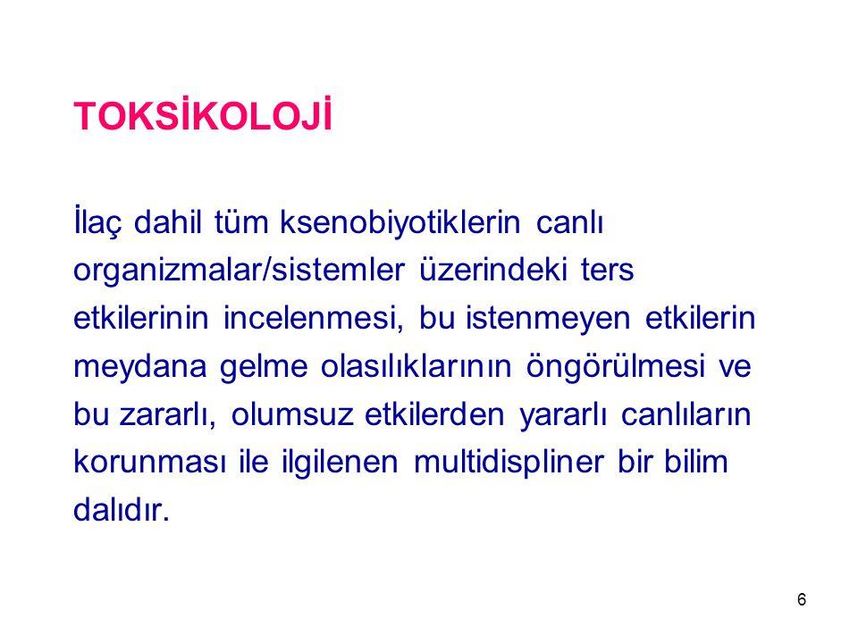 TOKSİKOLOJİ