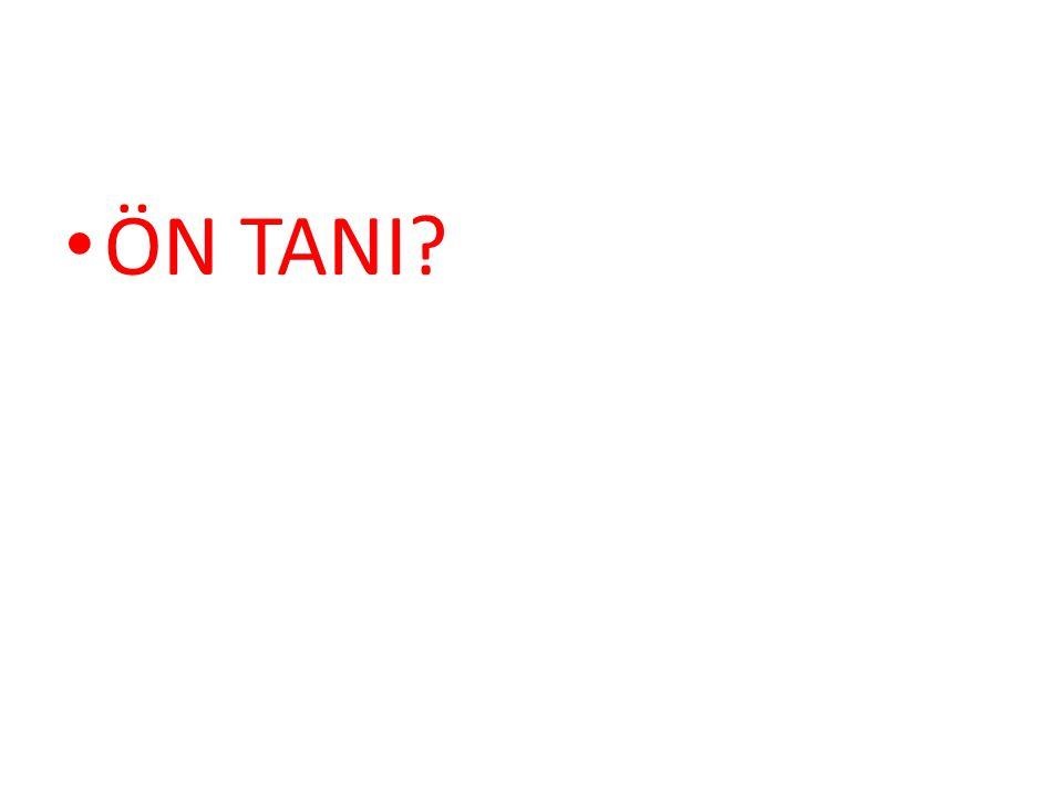 ÖN TANI