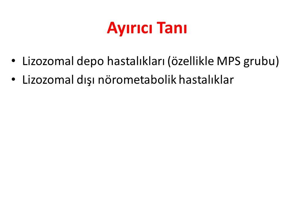 Ayırıcı Tanı Lizozomal depo hastalıkları (özellikle MPS grubu)