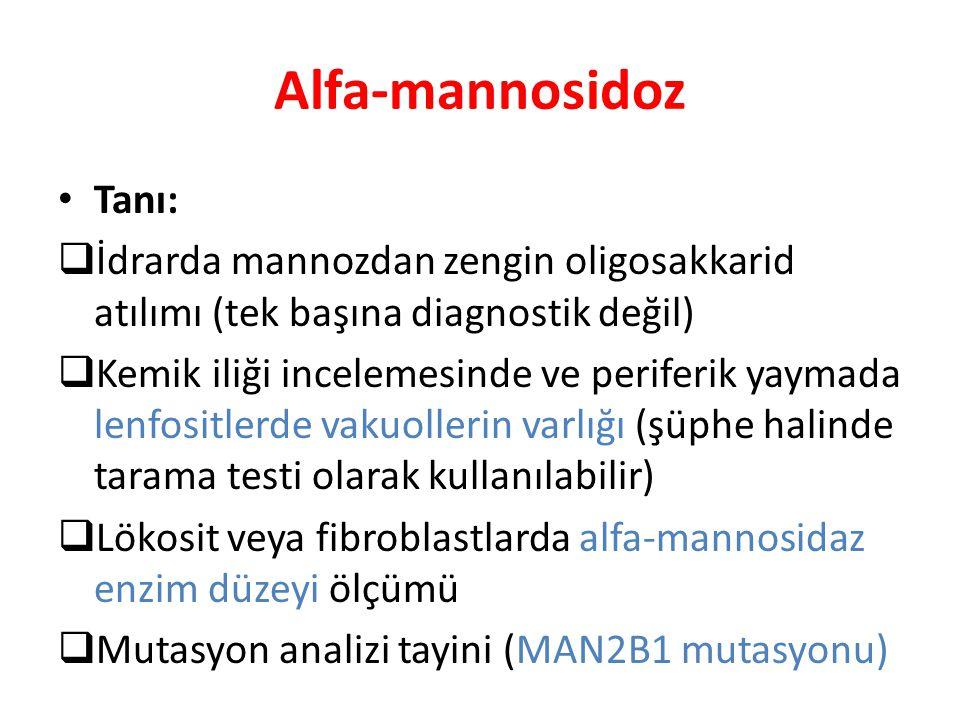 Alfa-mannosidoz Tanı: