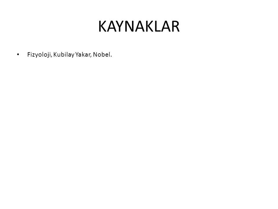 KAYNAKLAR Fizyoloji, Kubilay Yakar, Nobel.