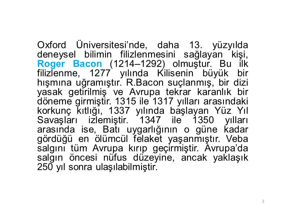 Oxford Üniversitesi'nde, daha 13
