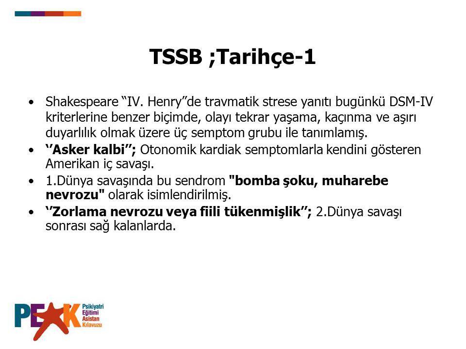 TSSB ;Tarihçe-1