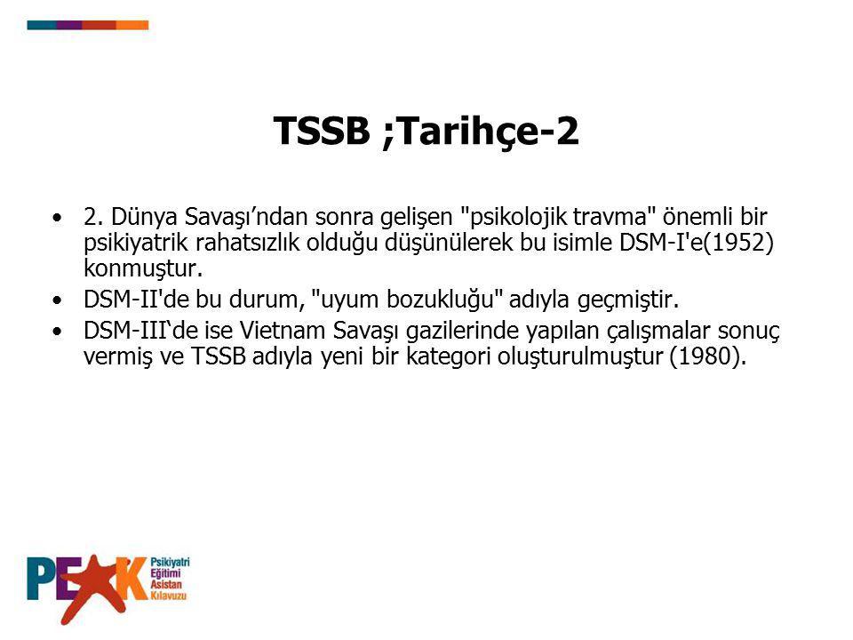 TSSB ;Tarihçe-2
