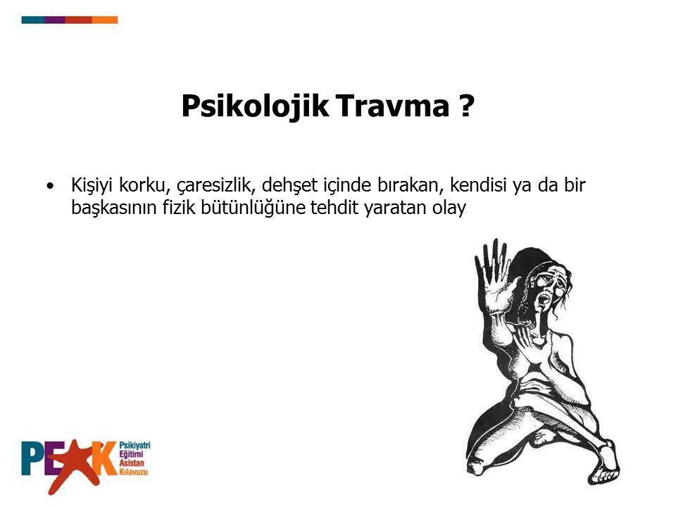 Psikolojik Travma .