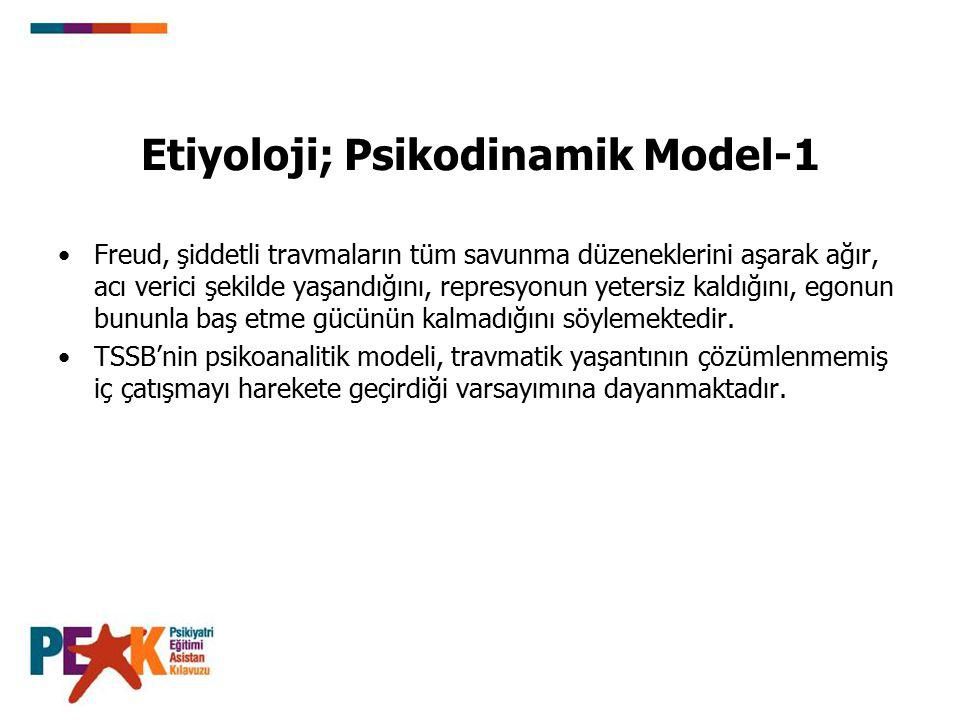 Etiyoloji; Psikodinamik Model-1