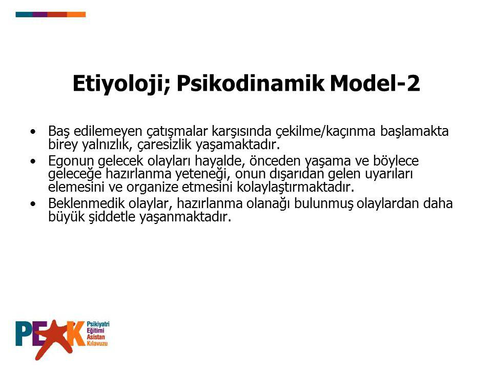 Etiyoloji; Psikodinamik Model-2