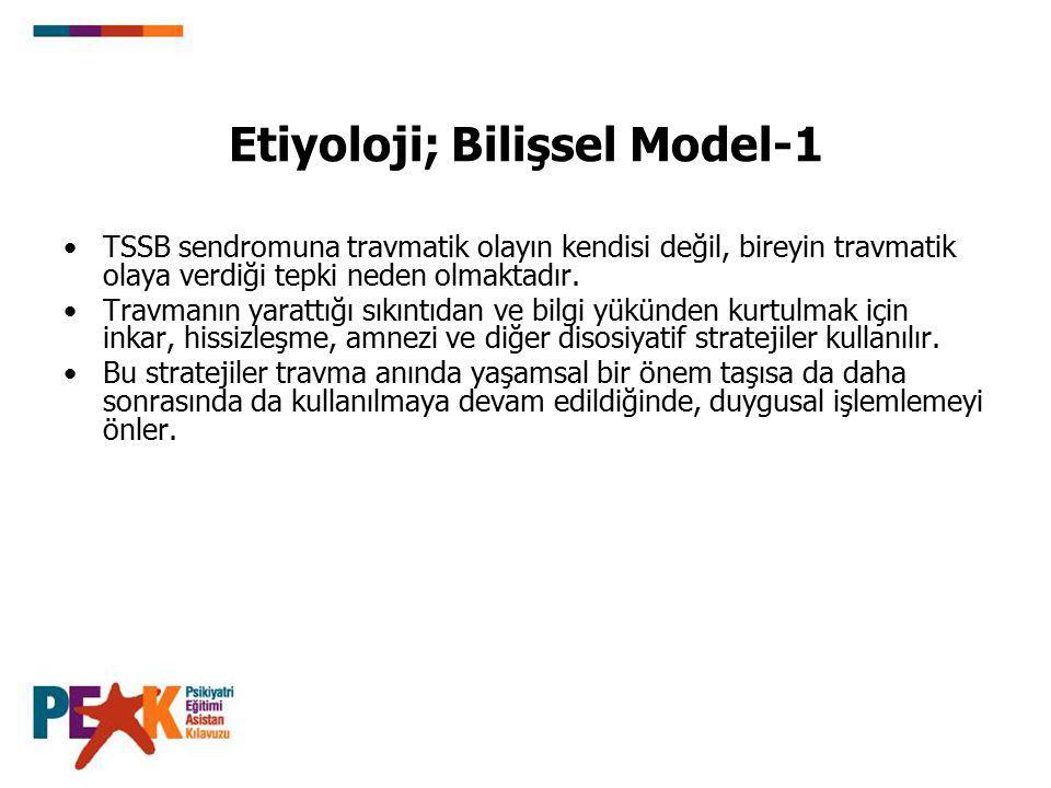 Etiyoloji; Bilişsel Model-1
