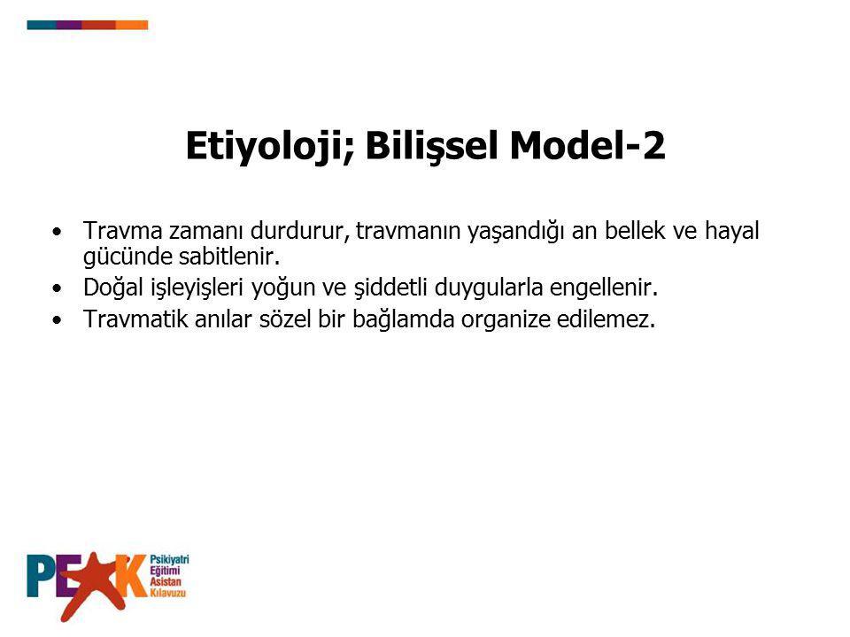 Etiyoloji; Bilişsel Model-2