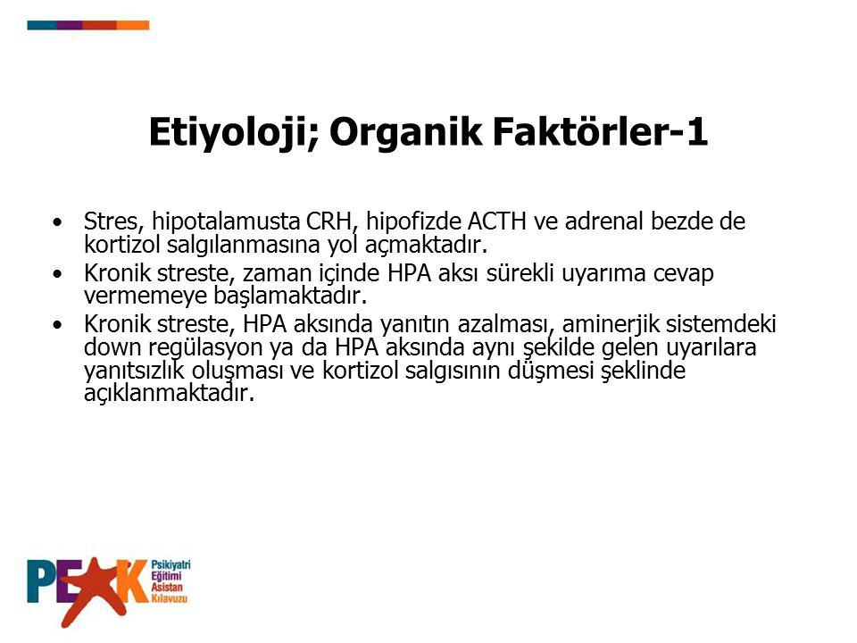 Etiyoloji; Organik Faktörler-1