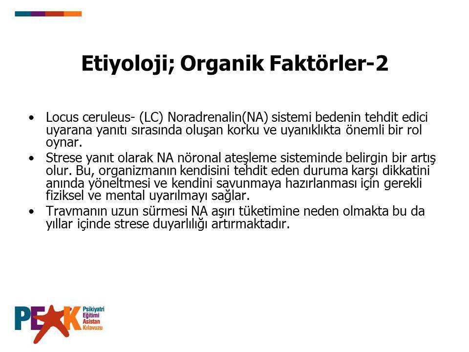 Etiyoloji; Organik Faktörler-2