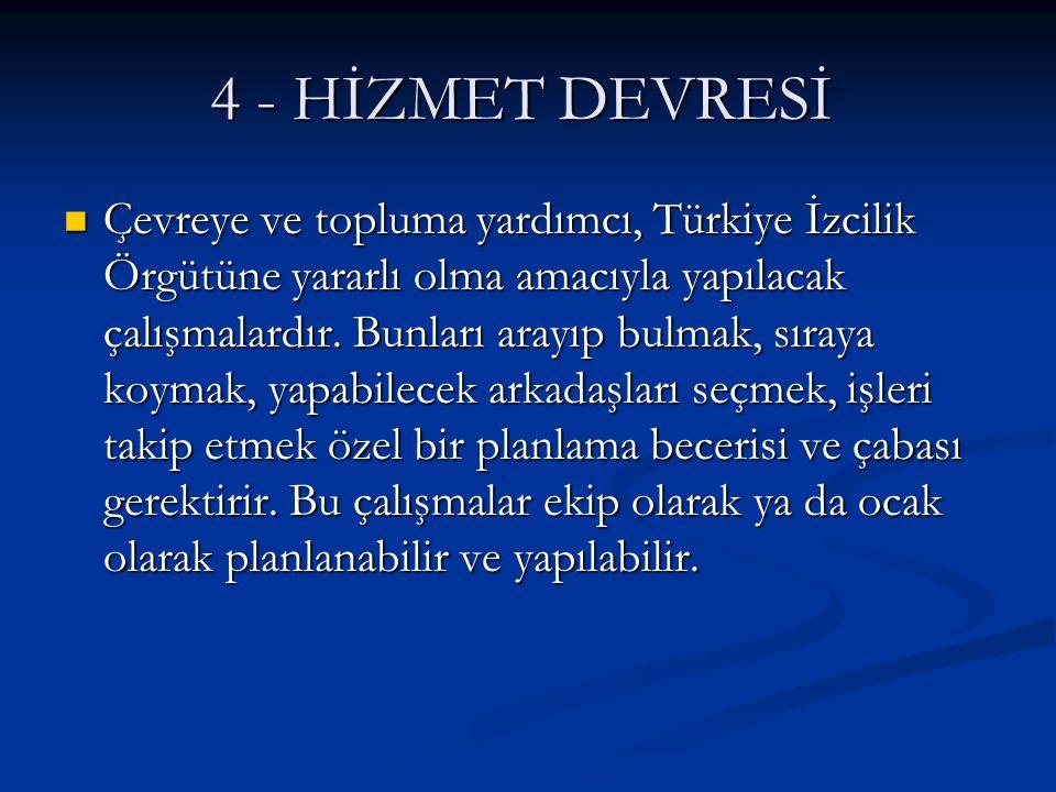 4 - HİZMET DEVRESİ