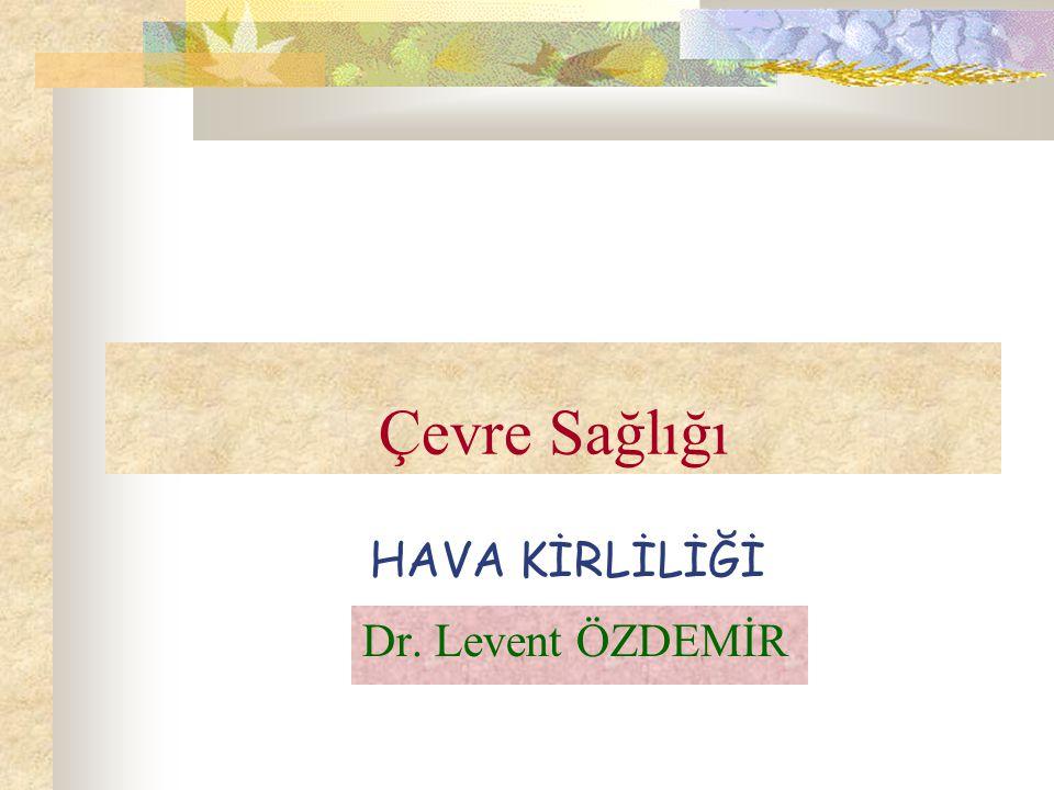 Çevre Sağlığı HAVA KİRLİLİĞİ Dr. Levent ÖZDEMİR