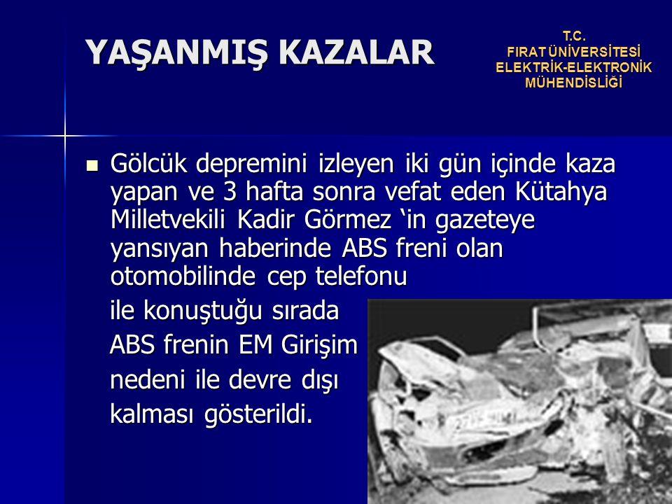 T.C. FIRAT ÜNİVERSİTESİ ELEKTRİK-ELEKTRONİK MÜHENDİSLİĞİ