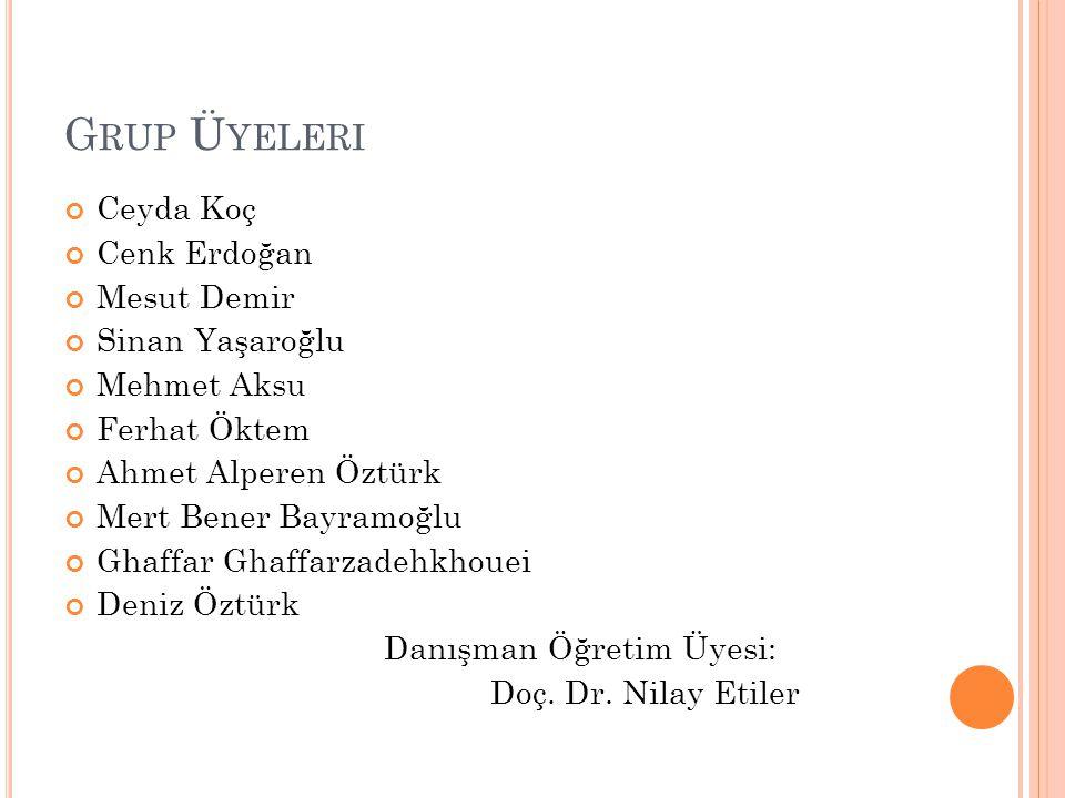 Grup Üyeleri Ceyda Koç Cenk Erdoğan Mesut Demir Sinan Yaşaroğlu