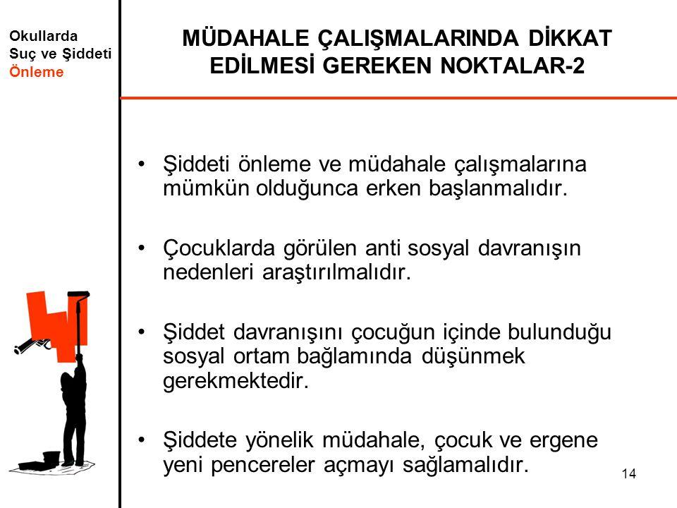 MÜDAHALE ÇALIŞMALARINDA DİKKAT EDİLMESİ GEREKEN NOKTALAR-2