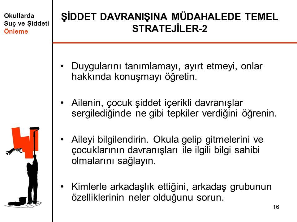 ŞİDDET DAVRANIŞINA MÜDAHALEDE TEMEL STRATEJİLER-2