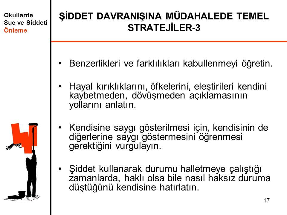 ŞİDDET DAVRANIŞINA MÜDAHALEDE TEMEL STRATEJİLER-3