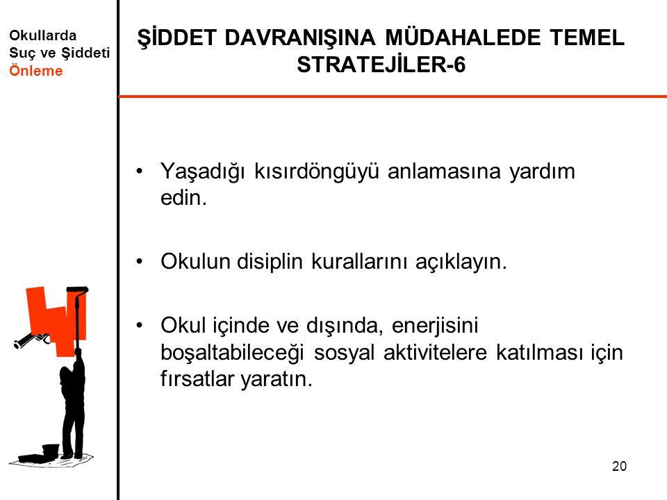 ŞİDDET DAVRANIŞINA MÜDAHALEDE TEMEL STRATEJİLER-6