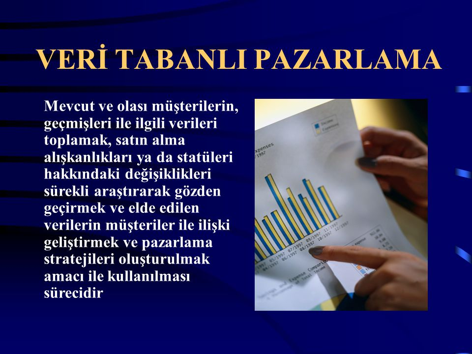 VERİ TABANLI PAZARLAMA