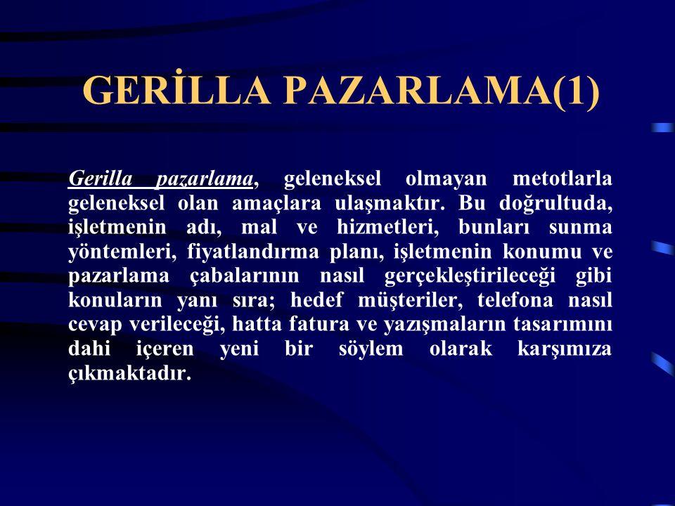 GERİLLA PAZARLAMA(1)