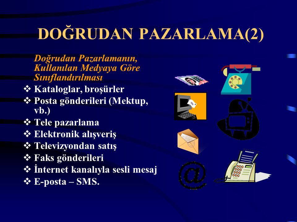 DOĞRUDAN PAZARLAMA(2) Doğrudan Pazarlamanın, Kullanılan Medyaya Göre Sınıflandırılması. Kataloglar, broşürler.