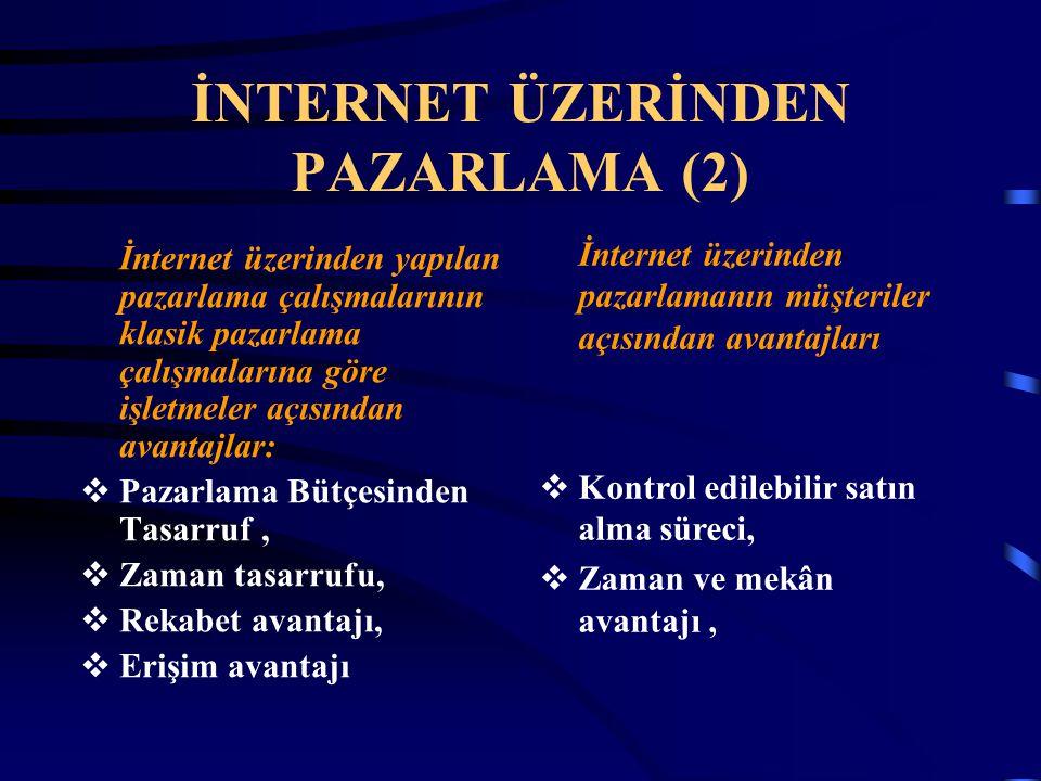 İNTERNET ÜZERİNDEN PAZARLAMA (2)